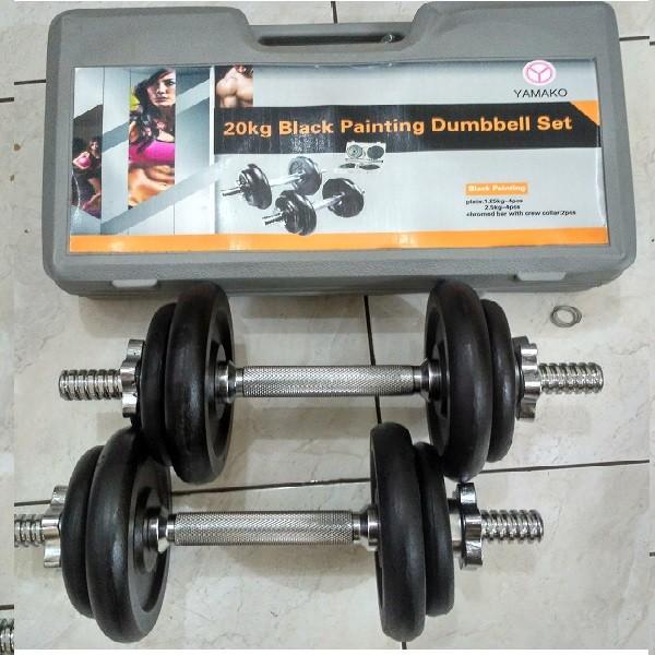 Dumbell Set 20 Kg Black